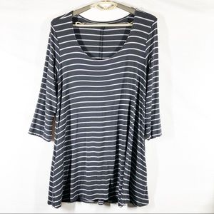 Maurice's Gray Striped Tunic Size Large